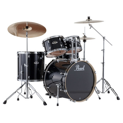 Pearl Drums - Export Shell Pack with Hardware - Jet Black - 20,10,12,14,14 - Pearl - EXX705C 31