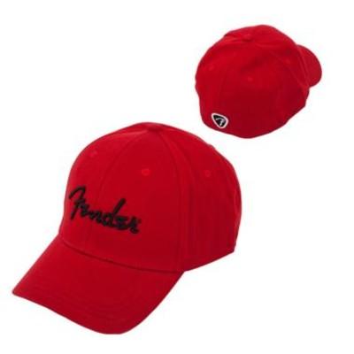 Fender Logo Stretch Cap - Red, L/XL - Fender - 910-6000-509