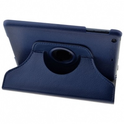 360 Rotating iPad Mini PU Leather Case - Blue Color