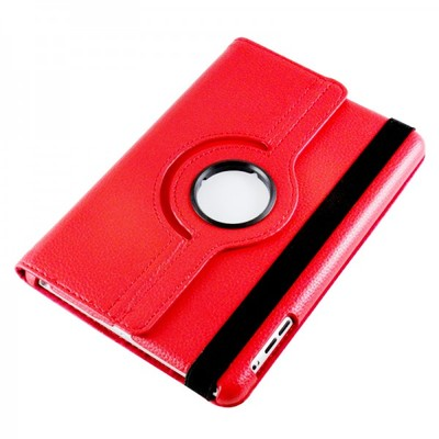 360 Rotating iPad Mini PU Leather Case - Red Color