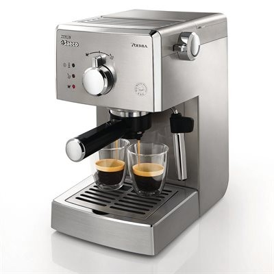 Saeco Poemia Manual Espresso Machine - Stainless Steel