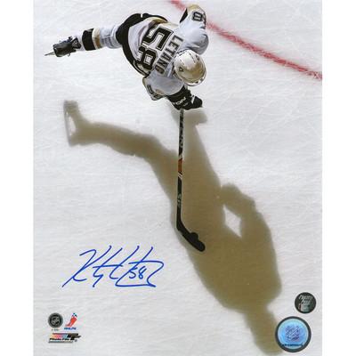 Kris Letang Autographed 8X10 Photo (Overhead)