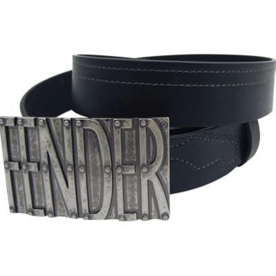 Fender Belt Buckle - Black, Large - Aim - 6144L