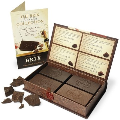 BRIX CHOCOLATE FOR WINE COLLECTION 4 VARIETY GIFT SET