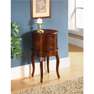 TWIN DRAWER ROUND HALL TABLE