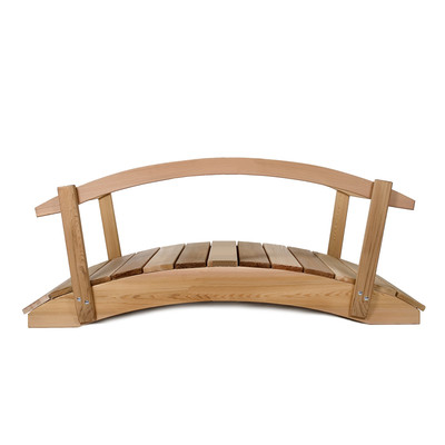 3ft. CEDAR Garden Arch Bridge with Hand Rails