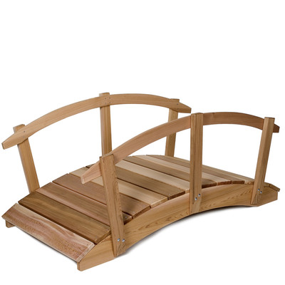 8ft. CEDAR Garden Arch Bridge with Hand Rails