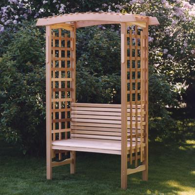 CEDAR Garden Arbor with Bench