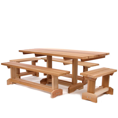 CEDAR 5pc. Market Picnic Table Outdoor Patio Set (10 person)