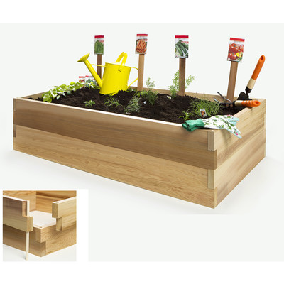 Cedar Vegetable Boxes - 4t. Double Raised Garden Bed