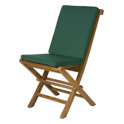 2-Folding Chair Cushions - GREEN