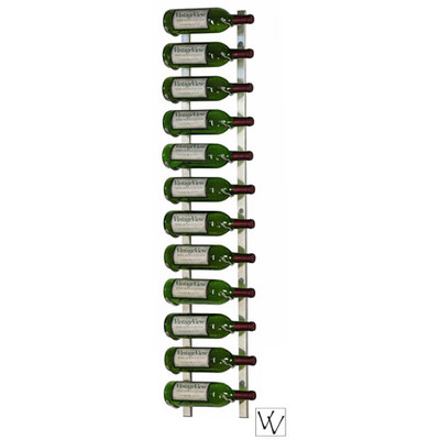 12 Bottle Vintage View Wall Mounted Wine Rack, Platinum Series Nickel Finish