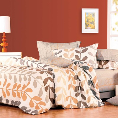 North Home - Amelia 100% Cotton 4pc Duvet Cover Set