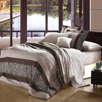 North Home Olivia 100% Cotton 4pc Duvet Cover Set