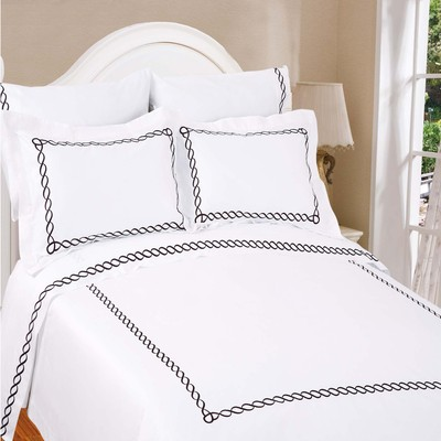 North Home Barcelona 100% Egyptian Cotton 310 Thread Count Duvet Cover Set