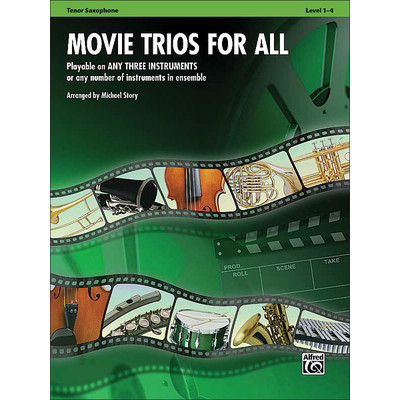 Music Movie Trios for All - Tenor Sax - Alfred Music - 00-33529