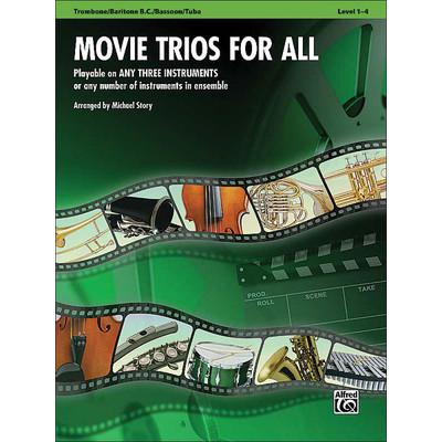 Music Movie Trios for All - Trombone, Bar BC, Bsn, Tuba - Alfred Music - 00-33532