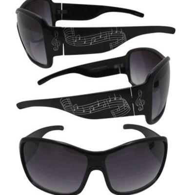 Sunglasses Aim Music Staff Black Wrap Around - Aim - 6808