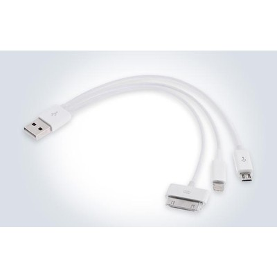 3 X 3-in-1 (Lightning / 30-Pin / Micro USB) USB Charging Cable