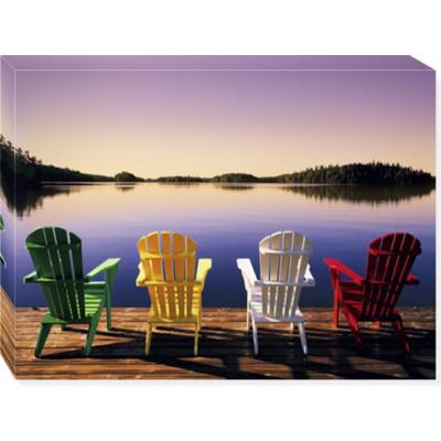 muskoka chairs -  print