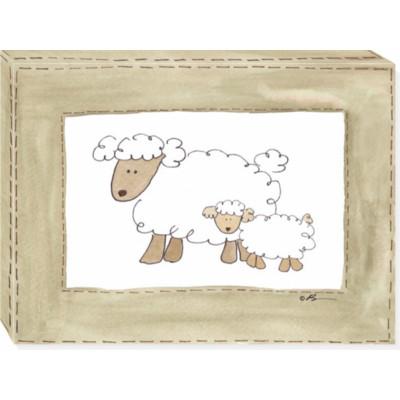 MORE VINTAGE SHEEP canvas art 12x16