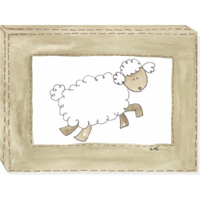 VINTAGE SHEEP canvas art 12x16