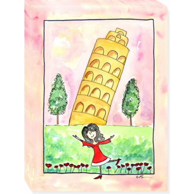 GIRL IN ITALY canvas art 12x16