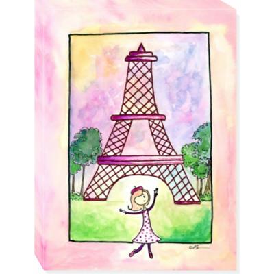 GIRL IN PARIS canvas art 12x16