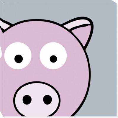 PIGGY THE PIG canvas art 14x14