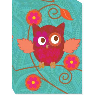 Owl canvas art 12x16