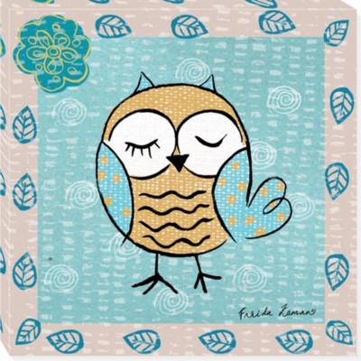 OWL 412 canvas art 14x14