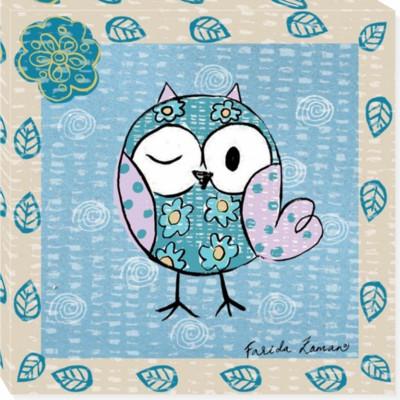 OWL 26 canvas art 14x14