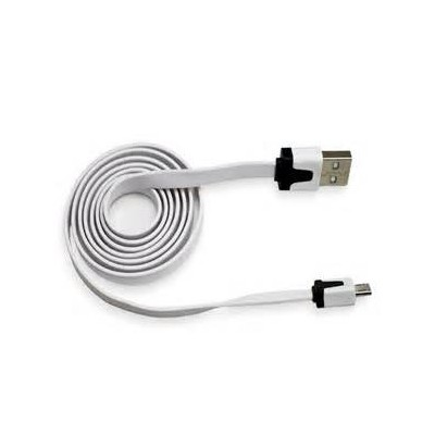 2 X Micro USB Flat Cable - White Color