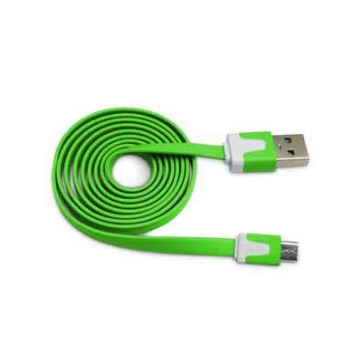 2 X Micro USB Flat Cable - Green Color