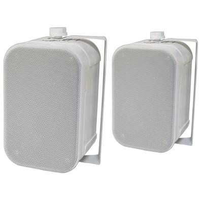 "Ultra Compact SE-320 2-Way Indoor / Outdoor 3.5"" Speakers (Pair, White)"