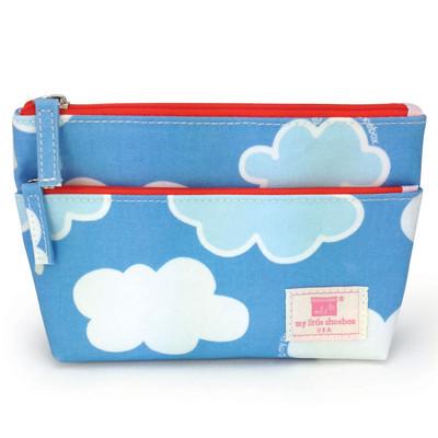 Two Zipper Pouch - Cloud