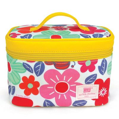 Travel Cosmetic Bag (with mirror) - Floral