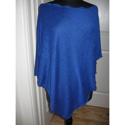 Royal Blue Italian Modal Knit Poncho