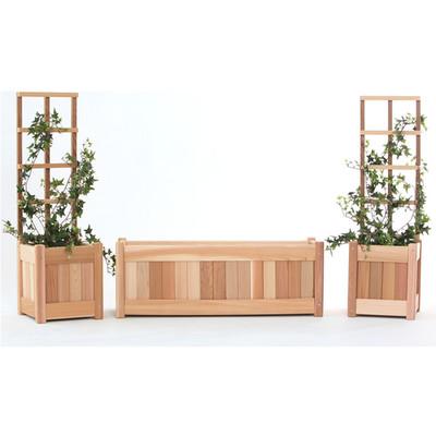 Cedar Planter Set /w Trellis