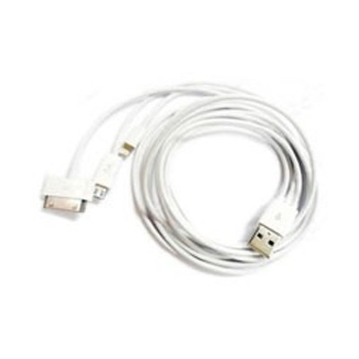 3 X 1m 3-in-1 (Lightning / 30-Pin / Micro USB) USB Charging Cable