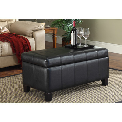 Bella Storage Ottoman - Black