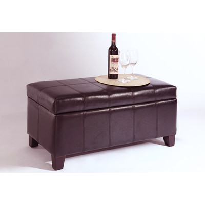 BELLA-STORAGE OTTOMAN-BROWN