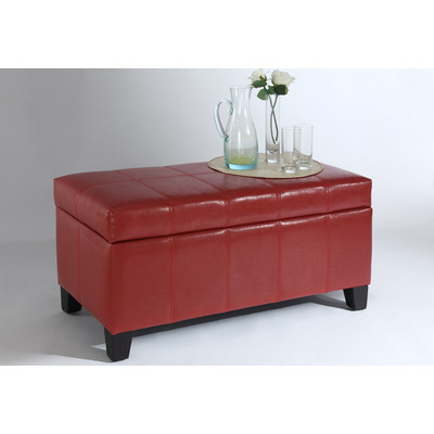 BELLA-STORAGE OTTOMAN-RED