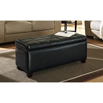 'Abby' Storage Ottoman - Black