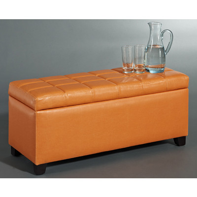 ABBY-STORAGE OTTOMAN-ORANGE