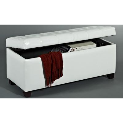 Abby Storage Ottoman - White