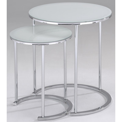 OSLO-2PC ACCENT TABLE-WHITE