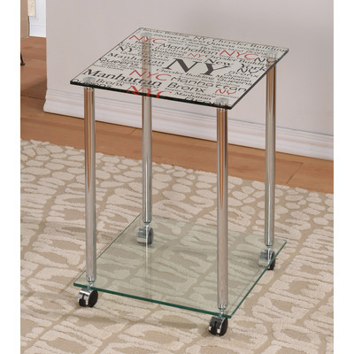SOHO-ACCENT TABLE-CHROME