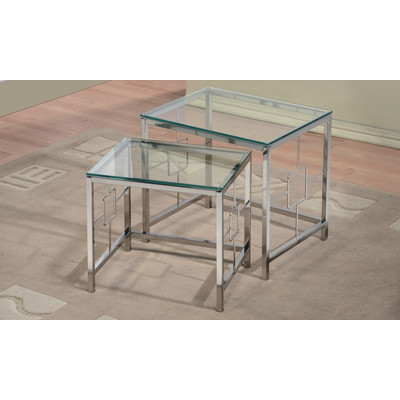 ATHENA-2PC NESTING TABLES-CHROME