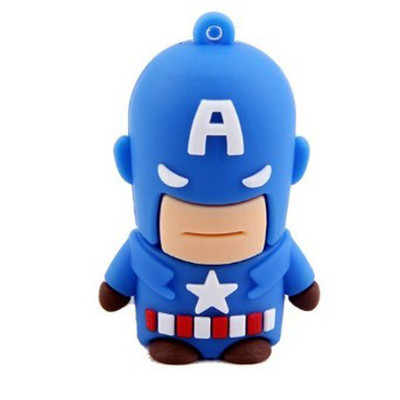 American Heros 8GB USB 2.0 Flash Drive - Captain America